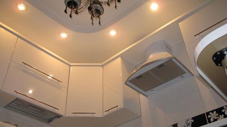 Точечное освещение по периметру кухни