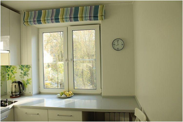 Римские шторы – лучшее решение для маленькой кухни