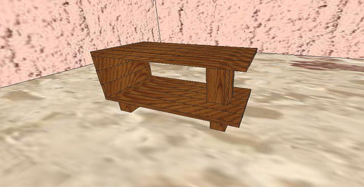 3-D визуализация того же стола, выполненная в программе PRO100