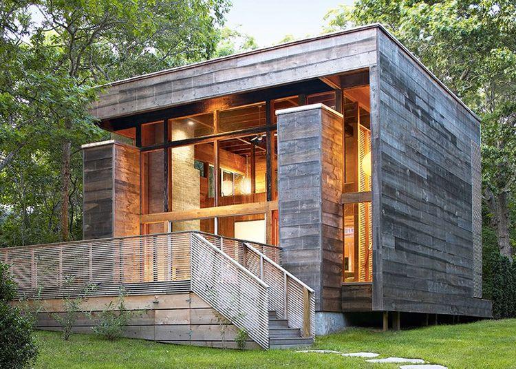 Реализованный проект каркасного дома в стиле хай-тек