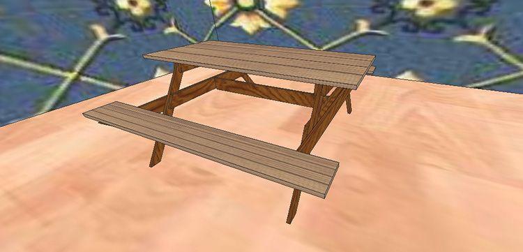Садовый стол из дерева своими руками со скамьями