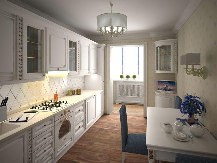 Белый цвет гармонично будет смотреться в помещении, оформленном в любом стиле: от классики до хай-тек.