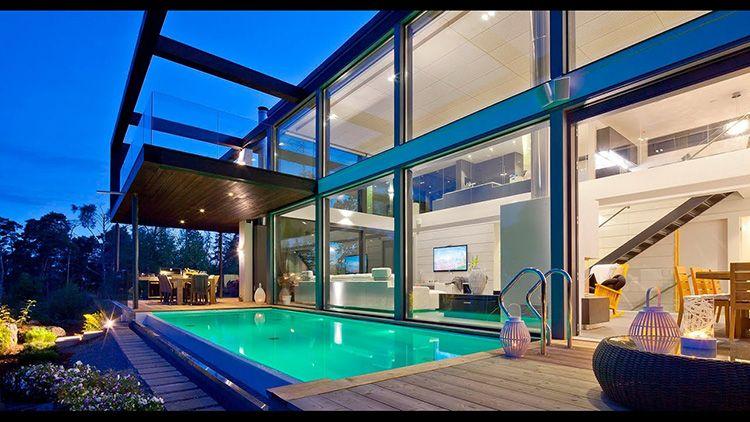 Все внутренние перегородки таких домов выполнены по ячеистому принципу и являются дополнительными линиями жесткости каркаса