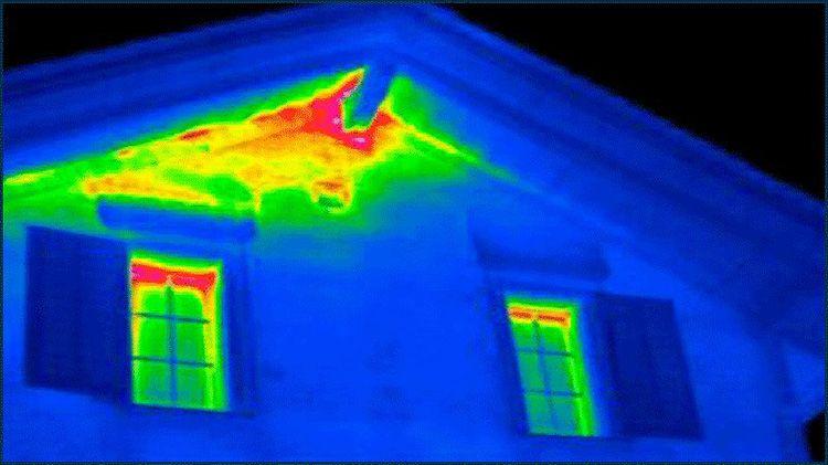 При проведении тепловизионного обследования все места утечек тепла будут обнаружены тепловизором и указаны в отчете, составленном по результатам измерений