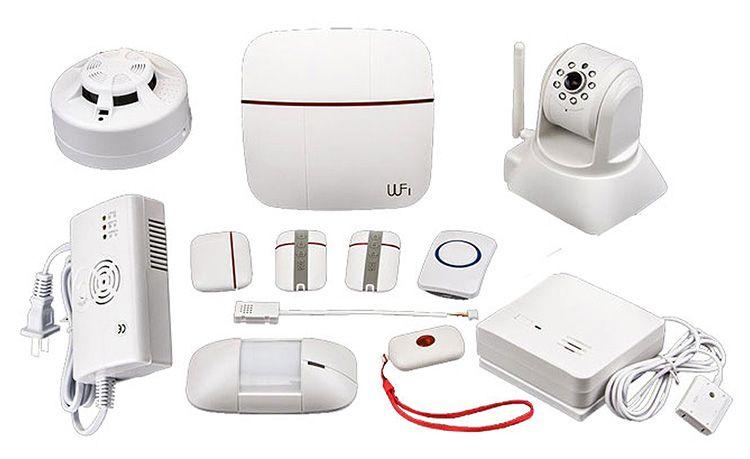 Система дает возможность подключения датчиков движения, задымления, утечки газа, возможность дистанционной записи и просмотр видеофайлов, возможность подключения дополненных датчиков охраны, имеет встроенную сирену.