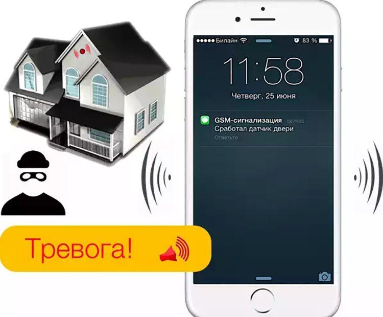 Существует возможность дистанционно включить и выключить охранную систему. Для этого необходимо отправить специальное СМС-сообщение.