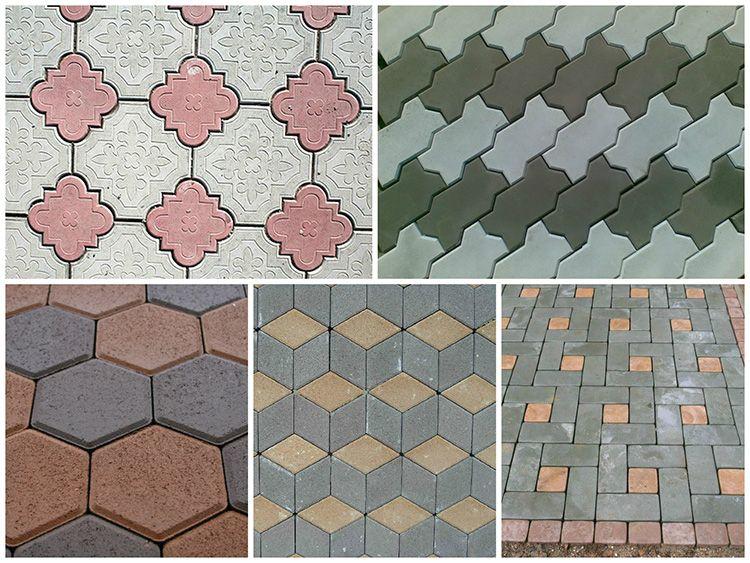 Форма блоков может быть самой разнообразной