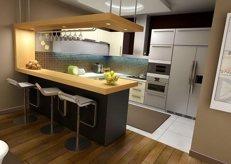 Барная стойка – очень красивый и функциональный предмет мебельной обстановки