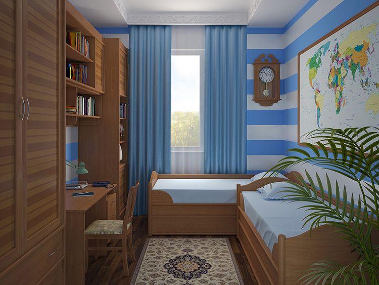Дизайн-проект маленькой комнаты для мальчиков