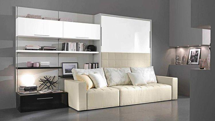Шкаф-диван-кровать с фасадами из ЛДСП