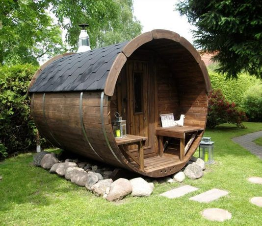Оригинальная баня в виде бочки: от основ до практики