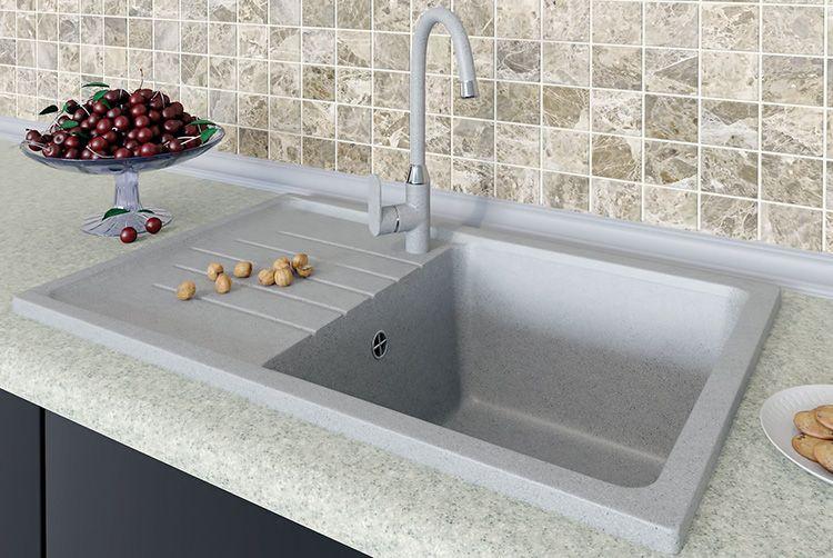 ⛲ Выбираем для кухни мойки из искусственного камня: виды, преимущества, правила ухода