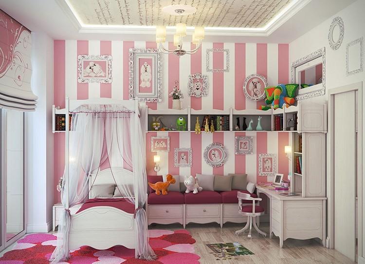 Такой дизайн наверняка оценить девочка - подросток 12 лет, особенно если ей разрешат наполнить комнату любимыми аксессуарами