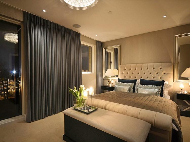 Фото ночных штор для спальни