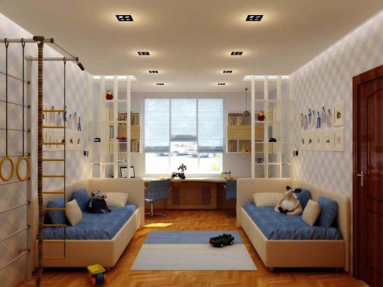 Планируя детскую комнату, нужно разбить её на функциональные зоны