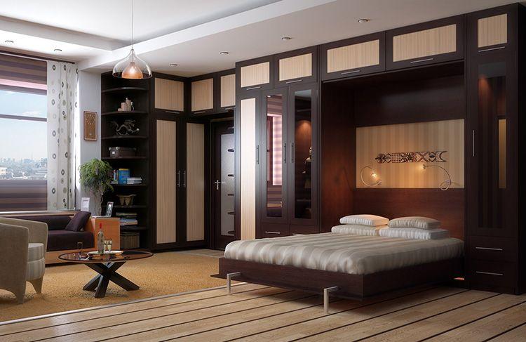Высокая стоимость – главный недостаток шкафов со встроенными откидными кроватями