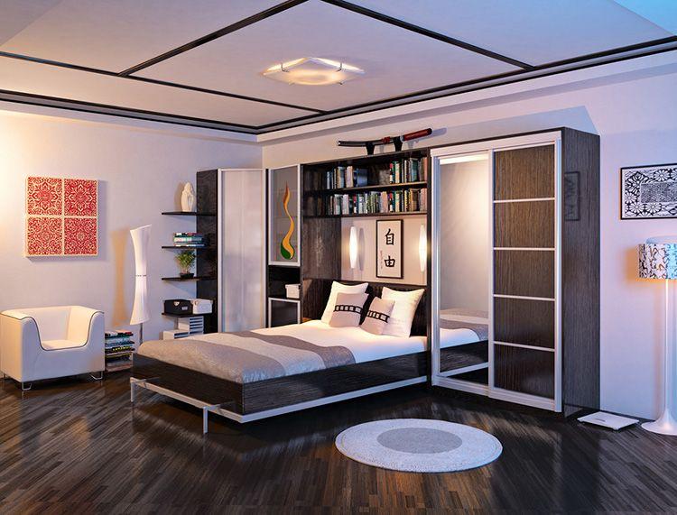 Шкаф со встроенной кроватью с вертикальным открытием требует много места