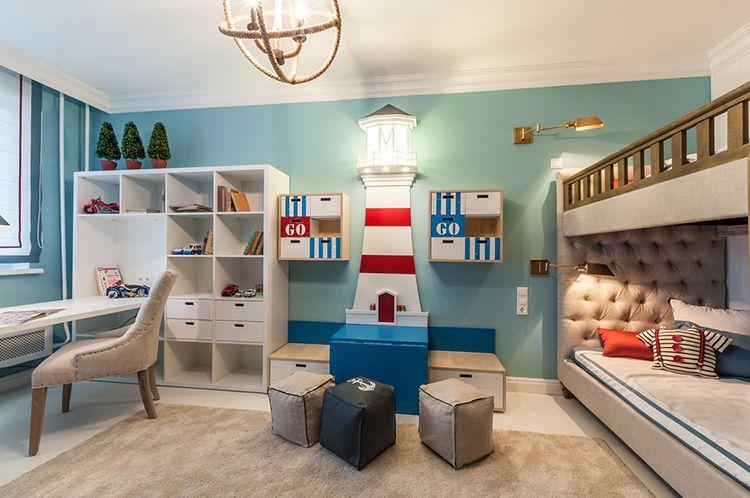 Всё та же морская тематика в интерьере детской комнаты