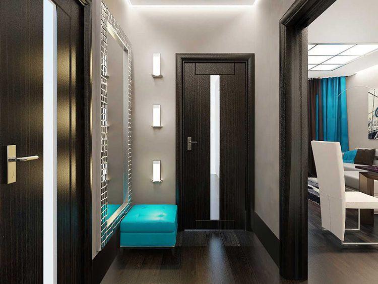 Прихожая в современном стиле для узких коридоров