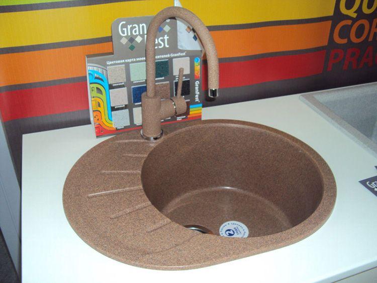 Кухонная раковина из искусственного камня GranFest