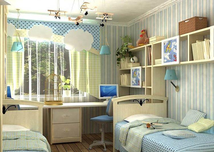 Детская комната мальчиков младшего школьного возраста