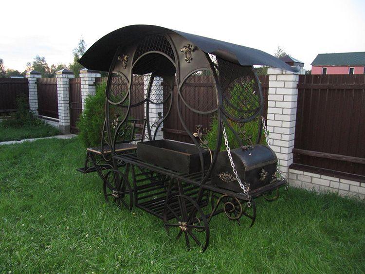 Такую махину просто так не передвинешь в другой конец сада, если только в конструкции не предусмотрены колёсики