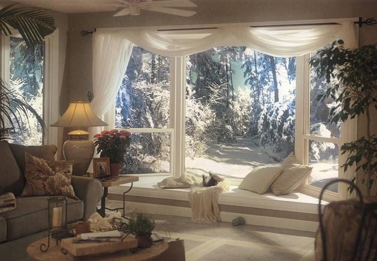 Отличный вид за окном не нарушат морозные узоры