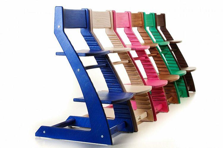 Чтобы обеспечить такую правильную посадку в любом возрасте, нужен высокий детский стул с регулируемыми сиденьем и подножкой.