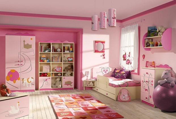 👧 Апартаменты маленькой принцессы: выбираем обои для детской комнаты девочки (фото в интерьере)