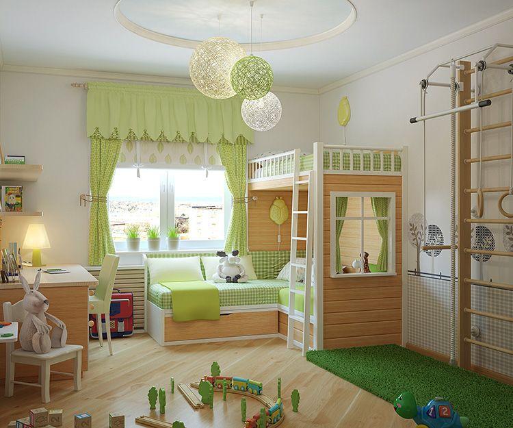 Детская комната должна хорошо освещаться