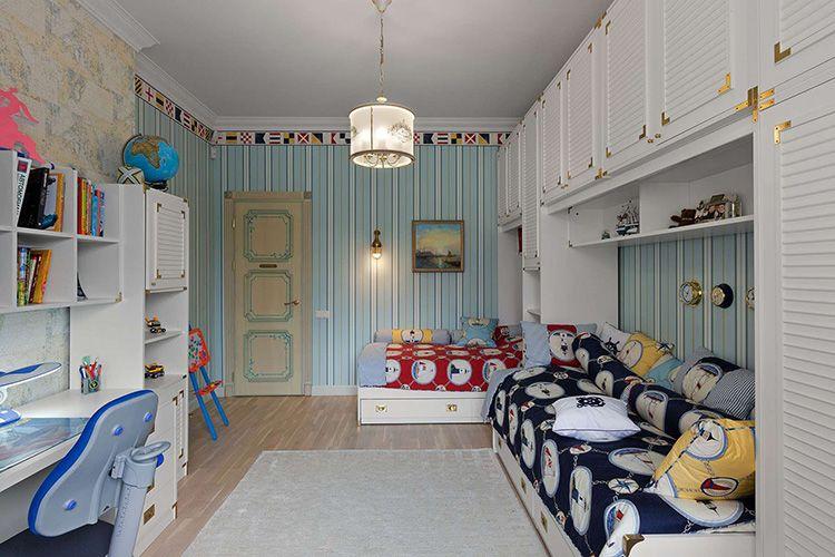 Интерьер детской комнаты для дошкольника и ребенка младшего школьного возраста