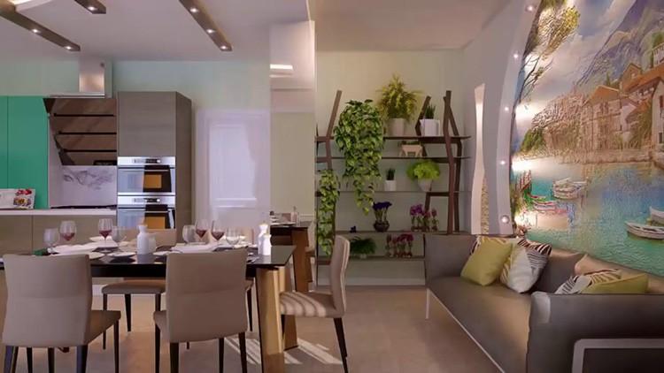 Интерьер кухни-гостиной в средиземноморском стиле
