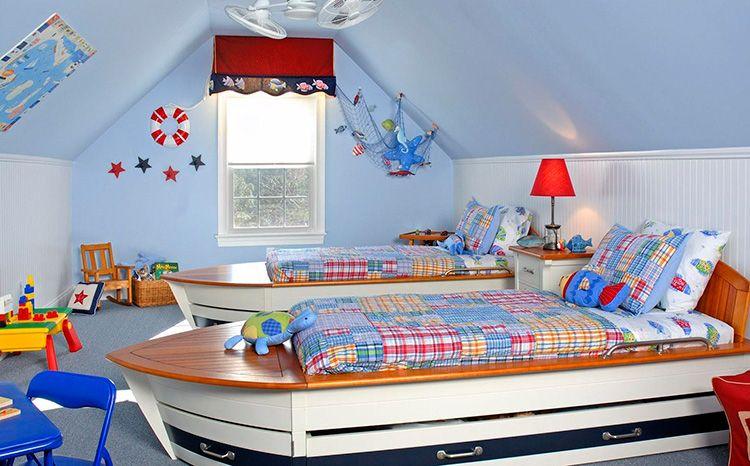 Кровати-лодки – место для сна и оригинальное украшение интерьера