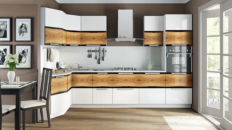 Материал фасада и цена кухонного гарнитура тесно взаимосвязаны