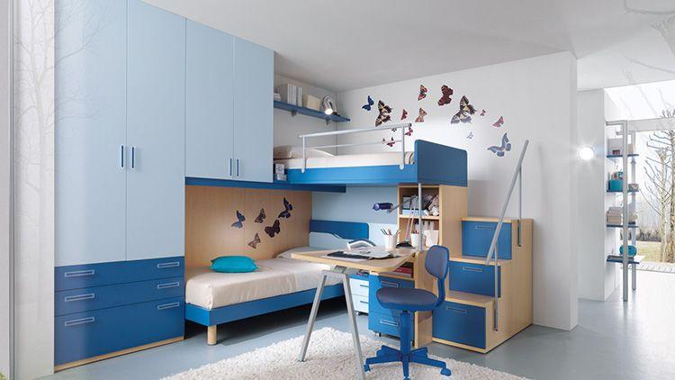 Если под верхним ярусом кровати устраивается рабочее место, то нужно обеспечить дополнительное освещение