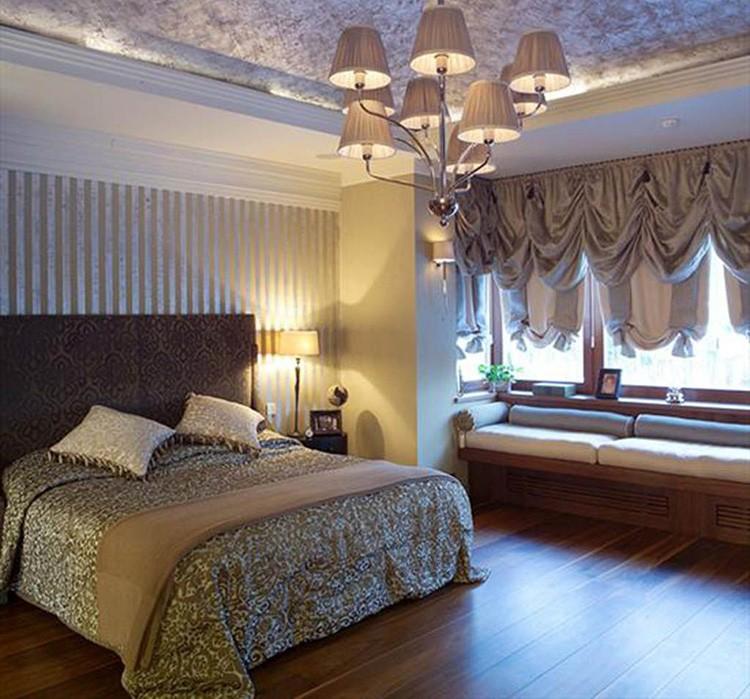 Фото штор с ламбрекенами в спальне