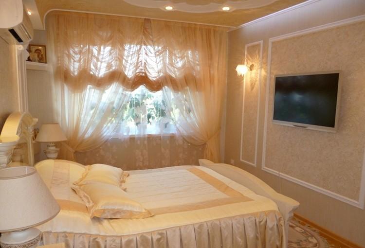 Фото штор из тюля для спальни