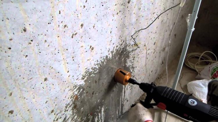 Сверление стен коронкой
