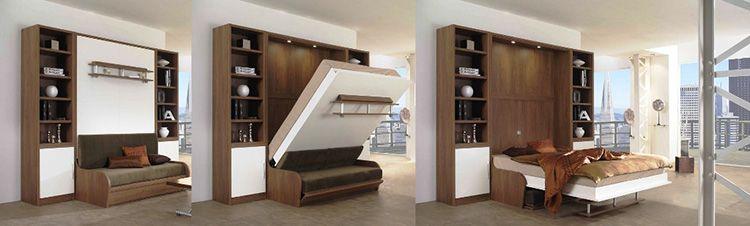 Устройство шкафа-трансформера с двуспальной кроватью