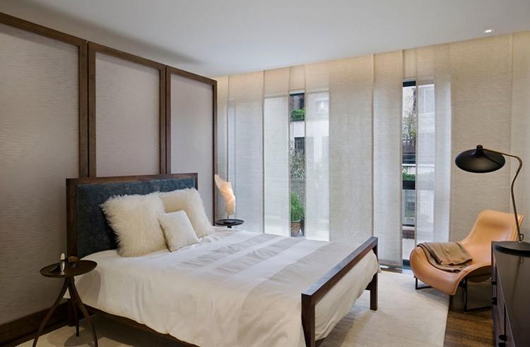 Японские шторы в маленькую спальню