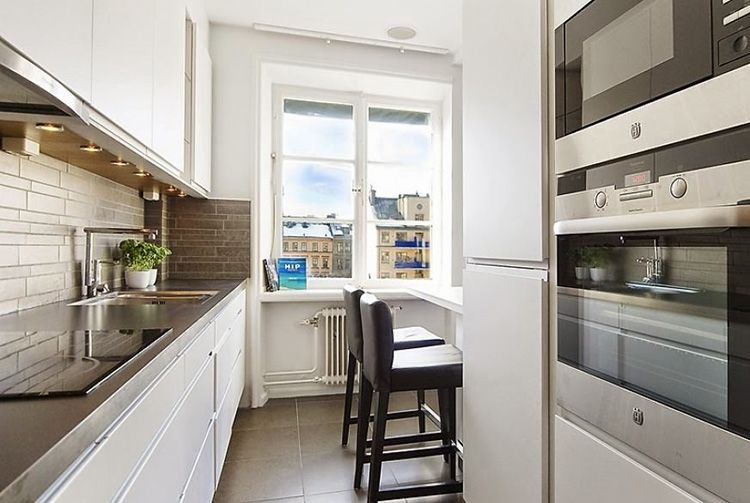Фото дизайна маленькой кухни с маленькой площадью