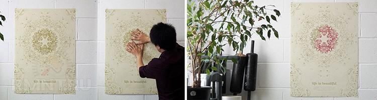 Изменить оформление стены можно одним «волшебным» прикосновением руки