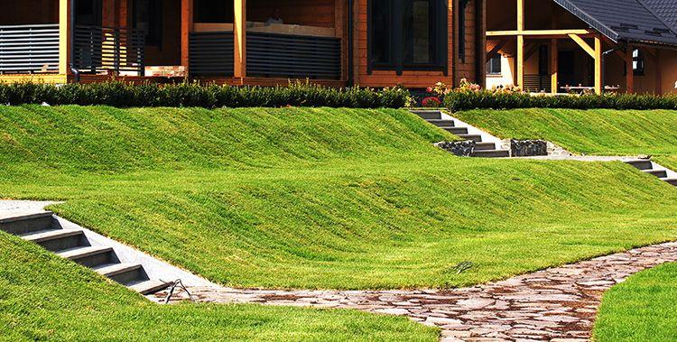 В этом случае вы сможете посадить на склоне цветы или зеленый газон