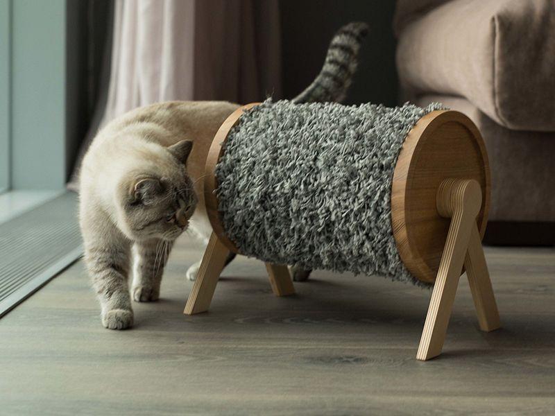 Когтеточка для кошек и котов своими руками: как сделать в домашних условиях, пошаговая инструкция, схемы, фото, размеры, выбор материалов