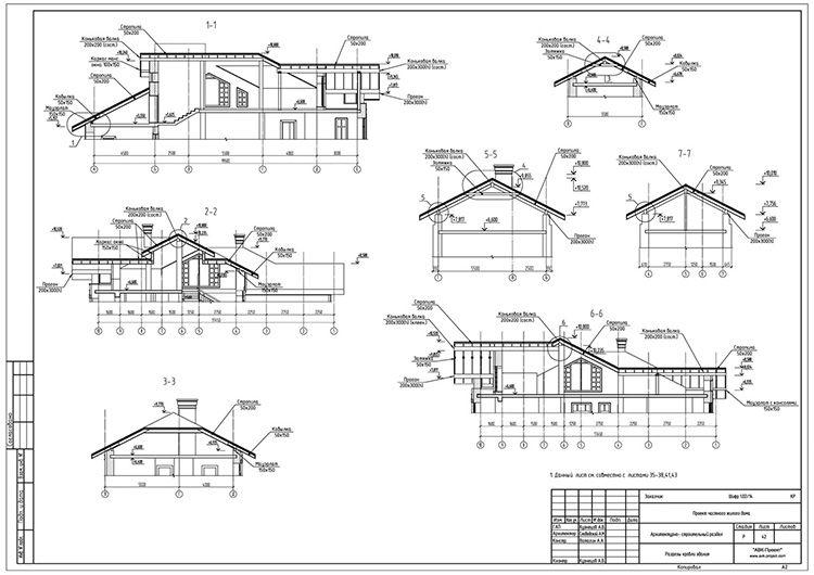 Здесь должны быть описаны все конструктивные узлы со спецификацией стройматериалов
