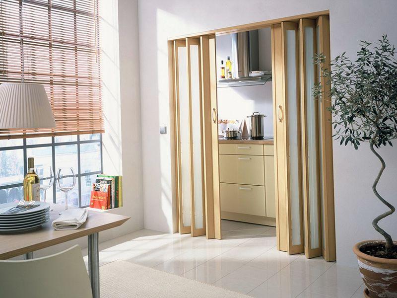 раздвижные межкомнатные двери гармошка виды монтаж