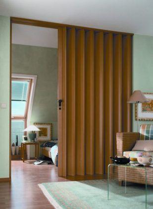 Раздвижные межкомнатные двери гармошка: как использовать, чтобы правильно зонировать пространство