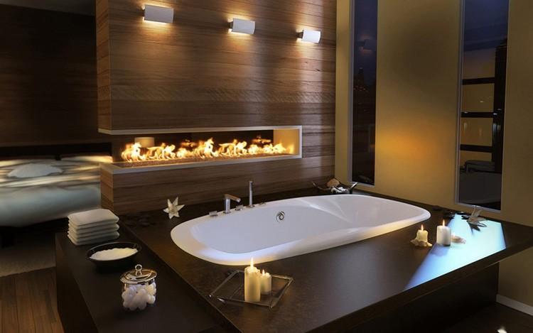 Керамика – совсем не обязательное условие оформления интерьера ванной комнаты. Есть и другие практичные и привлекательные варианты