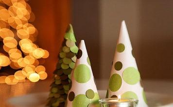 Как украсить дом на Новый год: объёмные ёлки из бумаги и картона помогут создать праздничную атмосферу