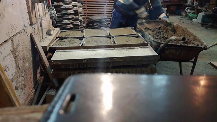 Цех по производству тротуарной плитки в гараже